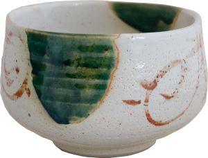 White green matcha bowl