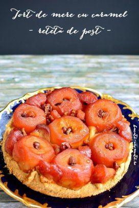 Tort de mere caramelizate, o reteta de post care se face usor doar cu ingrediente naturale. Rezultatul va fi frumos si delicios.