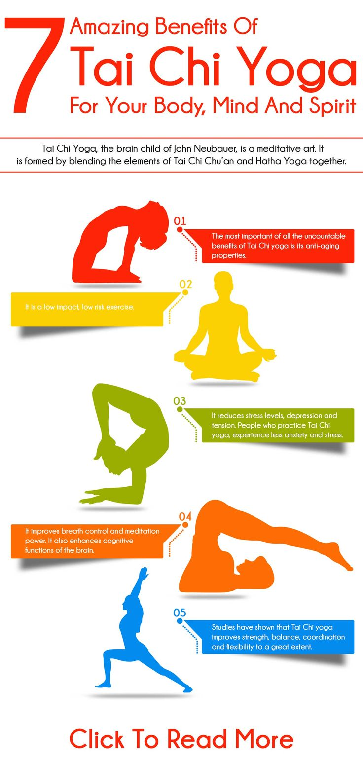 7 Amazing Benefits Of Tai Chi Yoga For Your Body, Mind And Spirit : The most important of all the uncountable benefits of Tai Chi yoga is its anti-aging properties. Tai Chi yoga increases the longevity. It is beneficial for older people.