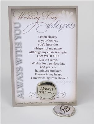 special wedding day remembrance gift for the bride or groom 100 lead free