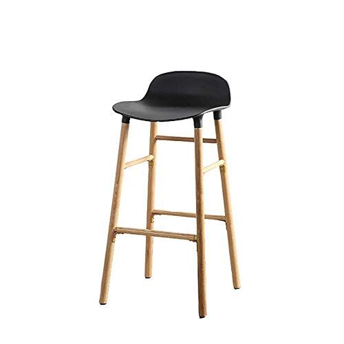 Xhlj Bar Stool Modern Minimalist Bar Chair With Backrest Solid Wood Frame Breakfast Restaurant S Restaurant Stools Modern Bar Stools Woods Restaurant