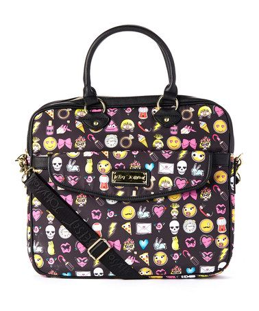 Look what I found on #zulily! Black Emoji Laptop Case #zulilyfinds