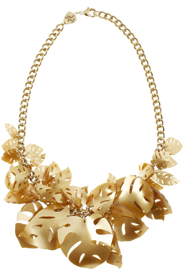 Hot House Leaves Necklace - Gold (£180.00)