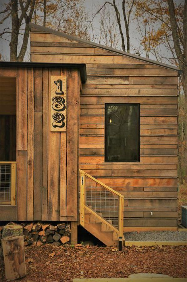 tiny modern rustic tiny cabin vacation near asheville nc 0025 rh pinterest com