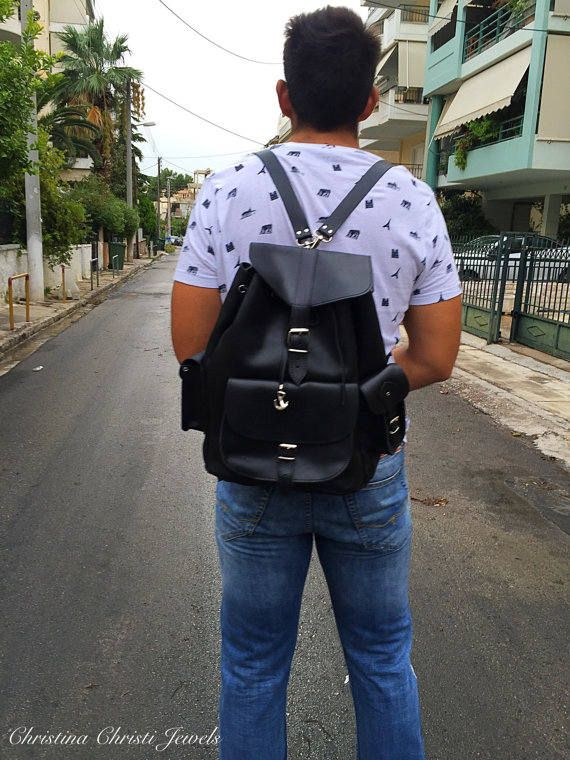 Excited to share the latest addition to my #etsy shop: Haversack Men, Leather Backpack, Leather Satchel, Made in Greece from Full Grain Leather, EXTRA LARGE. http://etsy.me/2EiivcO #bagsandpurses #backpack #black #haversackmen #leatherbackpack #leatherrucksack #backpac