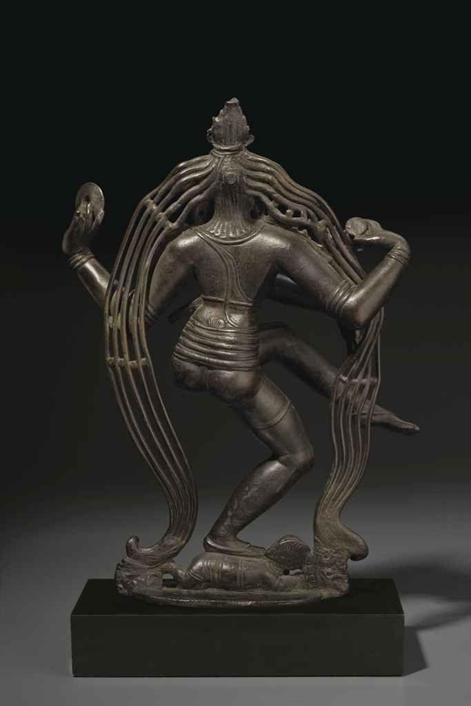 A RARE AND HIGHLY IMPORTANT BRONZE FIGURE OF SHIVA GANGADHARA NATARAJA , SOUTH INDIA, TAMIL NADU, CHOLA PERIOD, 9TH CENTURY  | Christie's