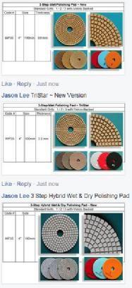 3 Step Polishing Pads