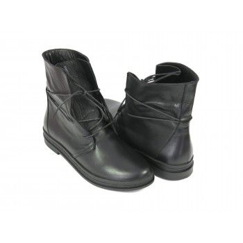 Женские кожаные ботинки на шнурках на низком ходу