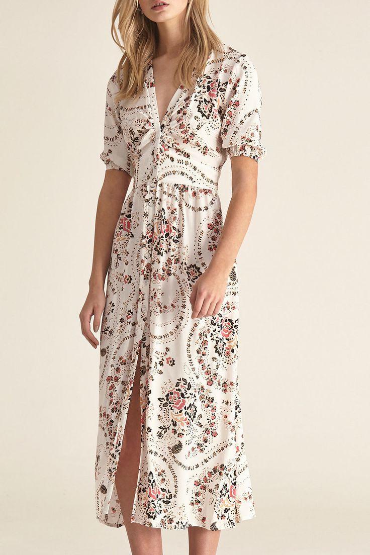 Steele - Aveline Dress - White Florete