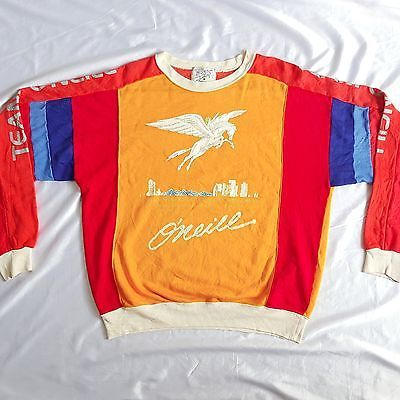 Vintage 80s O'neill Sportswear Pegasus Surf Wear Surfing Team Jersey Shirt Rare