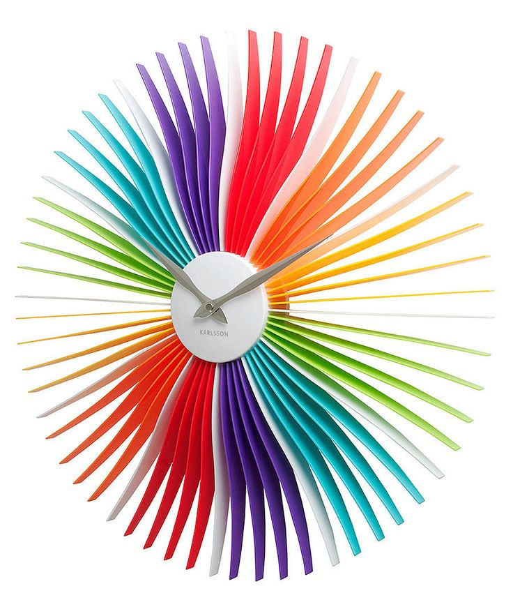 Wall clock Oopsy Daisy multi colour acrylic D. 50cm,