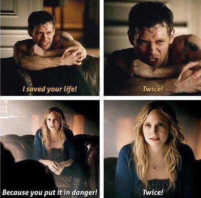 Klaroline moments. They so need to be together!! :) They have that love hate relationship.
