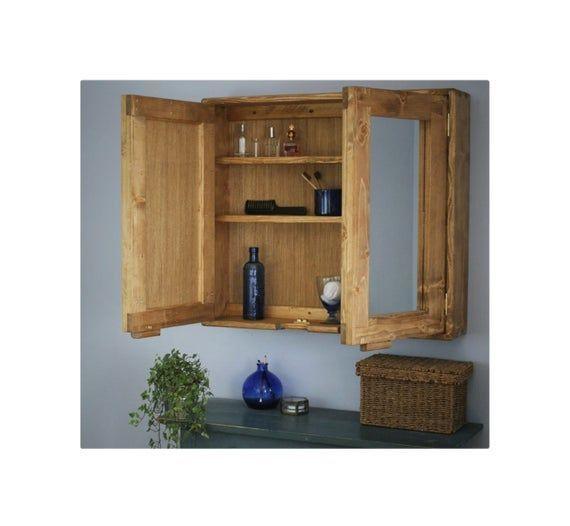 Large Bathroom Mirror Cabinet 80wx70hx16 5d Cm Light Wood Medicine Cabinet 3 Shelves 2 Doors Large Bathroom Mirrors Mirror Cabinets Wood Medicine Cabinets