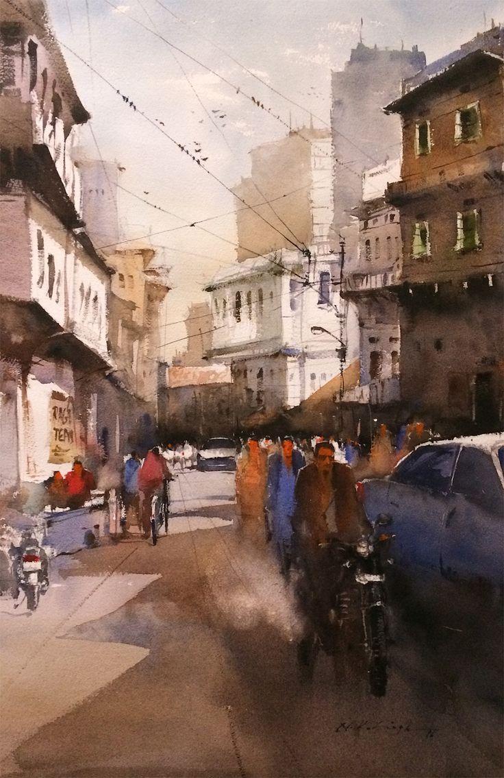 #Fine #art #gallery of best #watercolors #art for sale, buy art online best watercolor paints from indian watercolor artist nitin singh original art for sale.