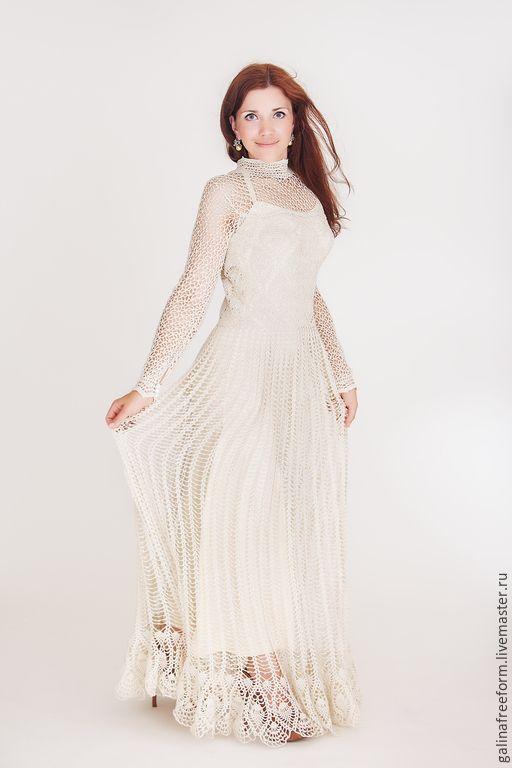 4736a3d0fda Венчальное вязаное платье
