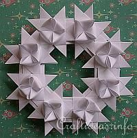 Another tutorial for folding German Star (Need 8 starts to make a Wreath)