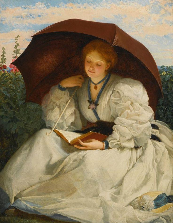 Charles Edward Perugini (Italia, 1839 - Inglaterra, 1918) - Lectura en una tarde soleada s. d. Óleo sobre lienzo, 91.4 x 71.1 cm (colección privada)