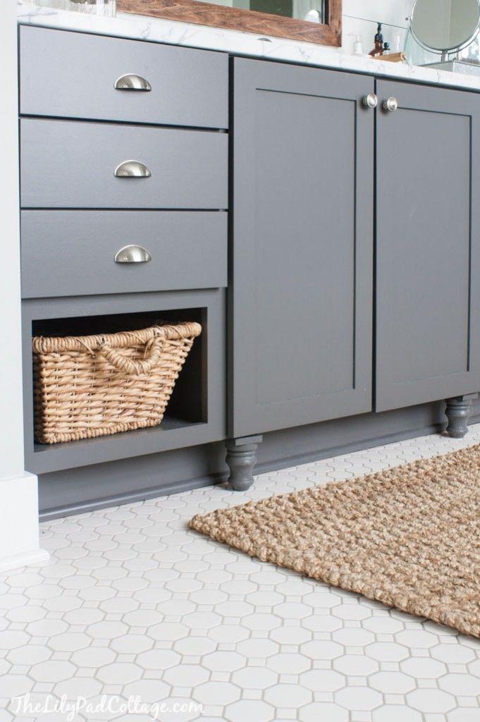 Customizing Builder Basic Cabinets - The Lilypad Cottage,  Grey Paint – Thorwood by Graham