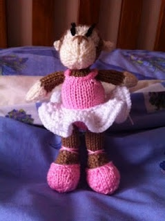 My Monkey Ballerina  Took me about 2 weeks to knit, but the results speak for themselves :)