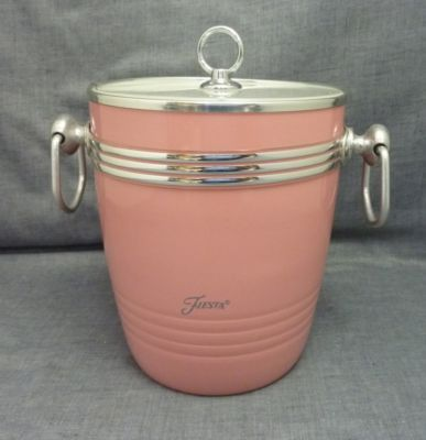 ice bucket Fiesta Ware, sweeeeeet! Matches my dinnerware set we use everyday.