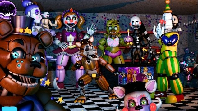 Baby, Ballora, Puppet, and Ennard's designs are a little
