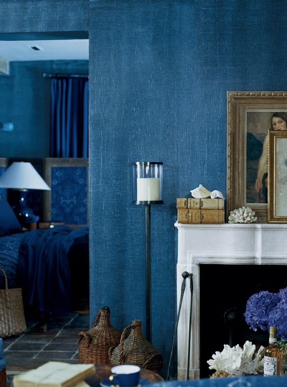If you love Dulux's colour of 2017, Denim Drift, why not try this this beautiful denim-effect paint by Ralph Lauren. Just one of the ways we look at going blue in your home in our feature about how to use blue, from Denim Drift to rich deep indigo.