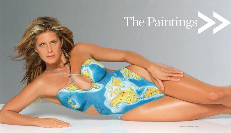 Women body paint bikini babe pictures