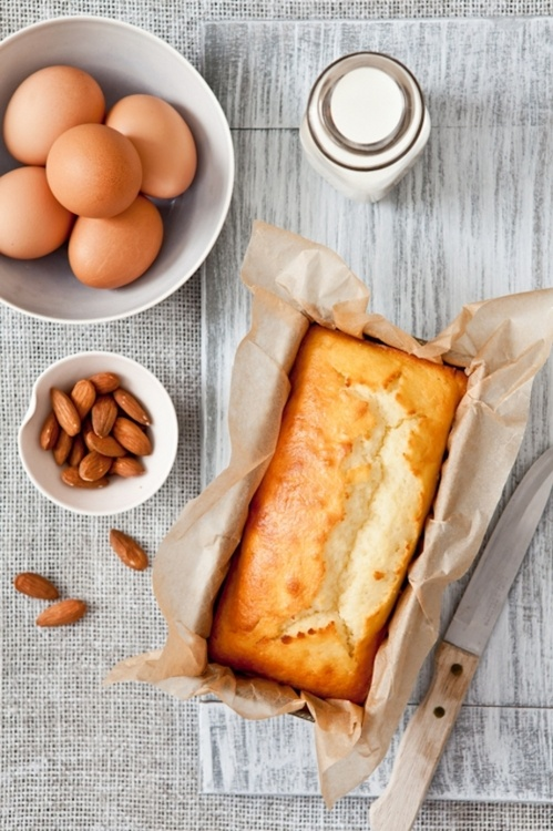 Gâteau au babeurre et frangipane - Buttermilk et frangipane cake - Amande - Almond