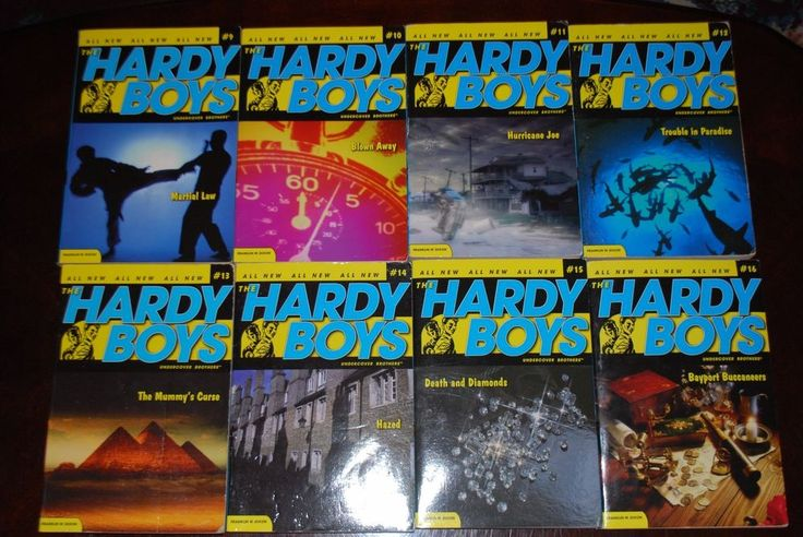 8 Books The Hardy Boys Paper Back Book Collection #2 Lot Franklin W. Dixon