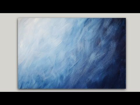 Painting A Blue Gradient Abstract Background With Acrylics