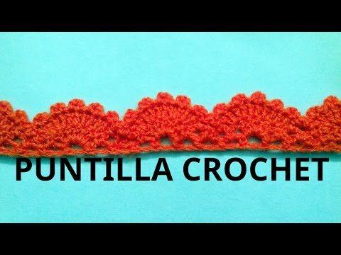 Puntilla N° 13 en tejido crochet tutorial paso a paso. - YouTube