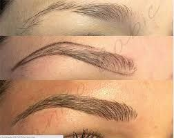 Image result for eyebrow feathering tattoo
