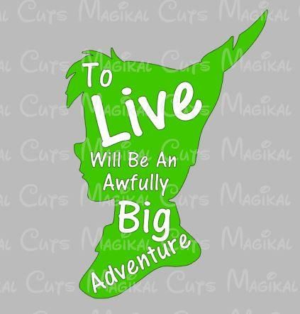 Peter Pan Live Quote SVG, Studio, EPS, and JPEG Digital Downloads