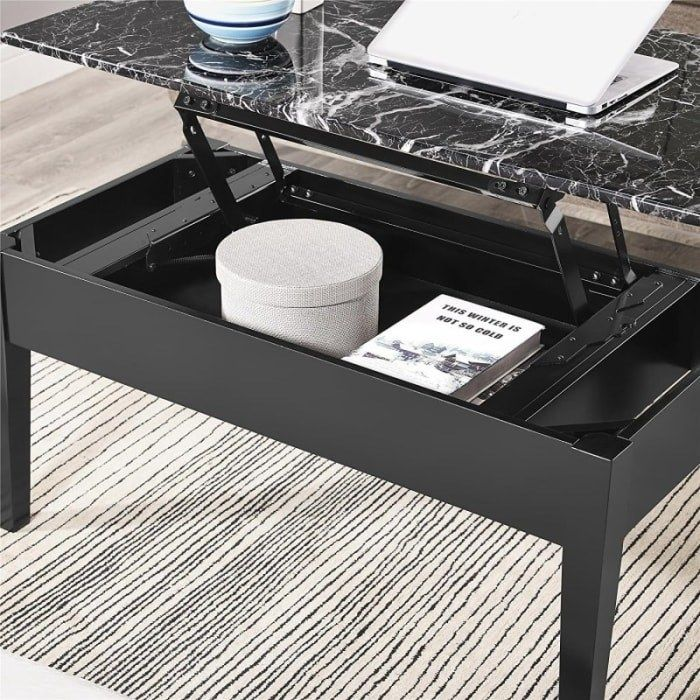 27 Things That Ll Make It Seem Like Your Home Doubled In Size Faux Marble Coffee Table Coffee Table Rectangular Coffee Table