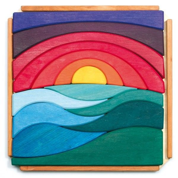 Wooden Landscape Puzzle made in Germany. Gorgeous!: Grimm Game, Landscape Puzzles, Mom Blog, Children Puzzles, Wooden Landscape, Children Toys, Wooden Toys, Wooden Puzzles, Wood Puzzles