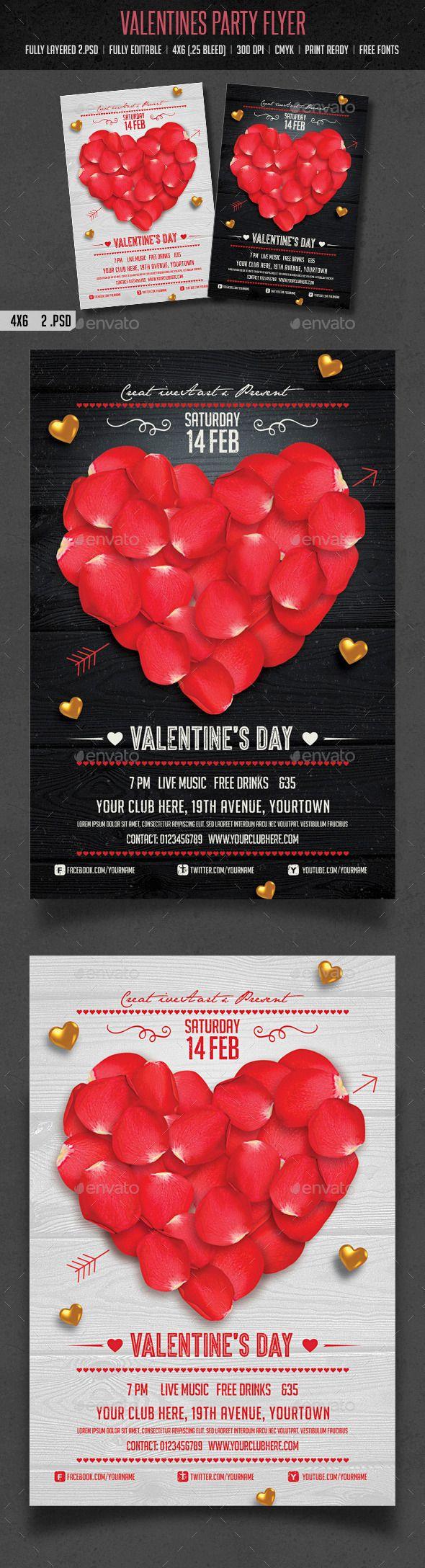 Valentines Day Flyer Template #design Download: http://graphicriver.net/item/valentines-day-flyer/10017695?ref=ksioks
