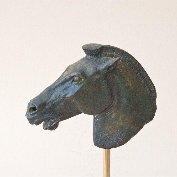 Bronze Horse, Greek Geometric Metal Art Sculpture, Parthenon Temple Athens Acropolis, Museum Quality Art, Ancient Greek Art, Equine Decor