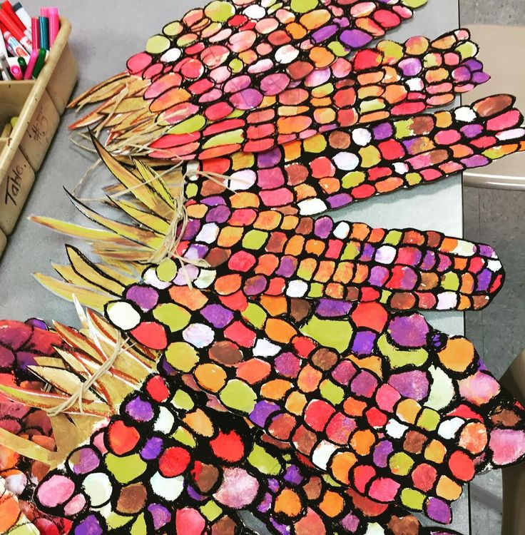 This Indian corn turned out awesome! I can't wait to display it! #fifthgrade #elementaryart #indiancorn #oilpastel #fall