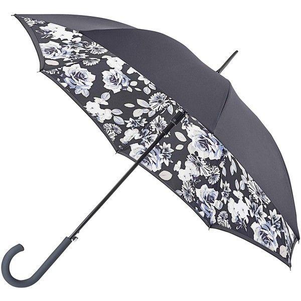 Fulton Bloomsbury Mono Floral Umbrella, Multi ($37) ❤ liked on Polyvore featuring accessories, umbrellas, misc, floral umbrella, print umbrella, fulton, black umbrella and floral print umbrella