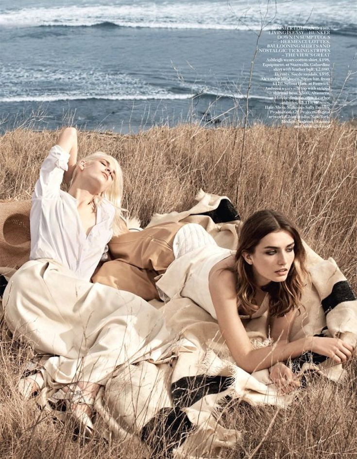 Fashion Editorial : Ashleigh Good & Andreea Diaconu for Vogue UK June 2014