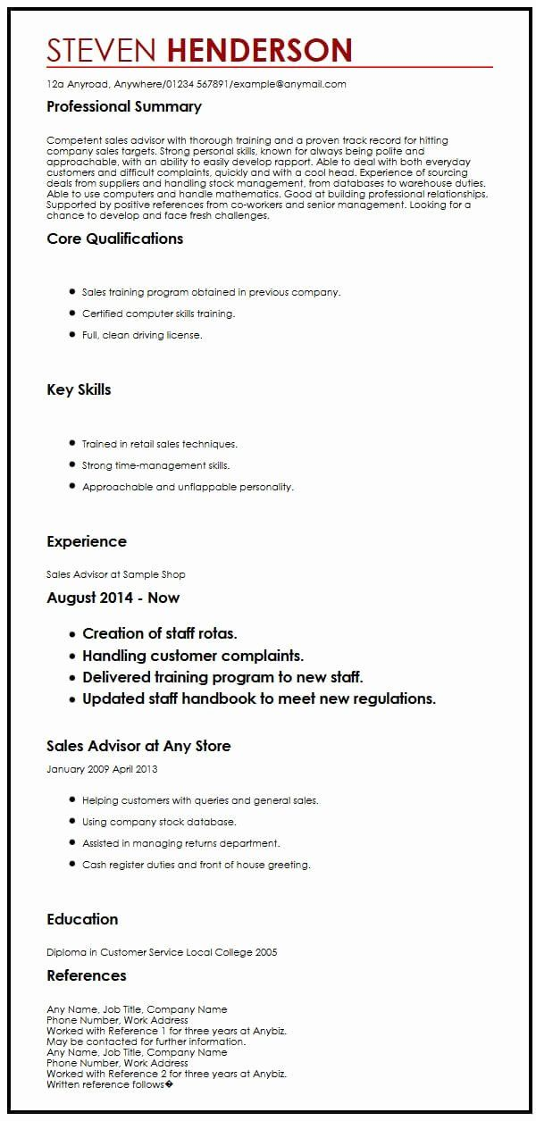 Resume Title Examples For Any Job Luxury Cv Example With References Myperfectcv In 2020 Cv Examples Resume References Resume Examples