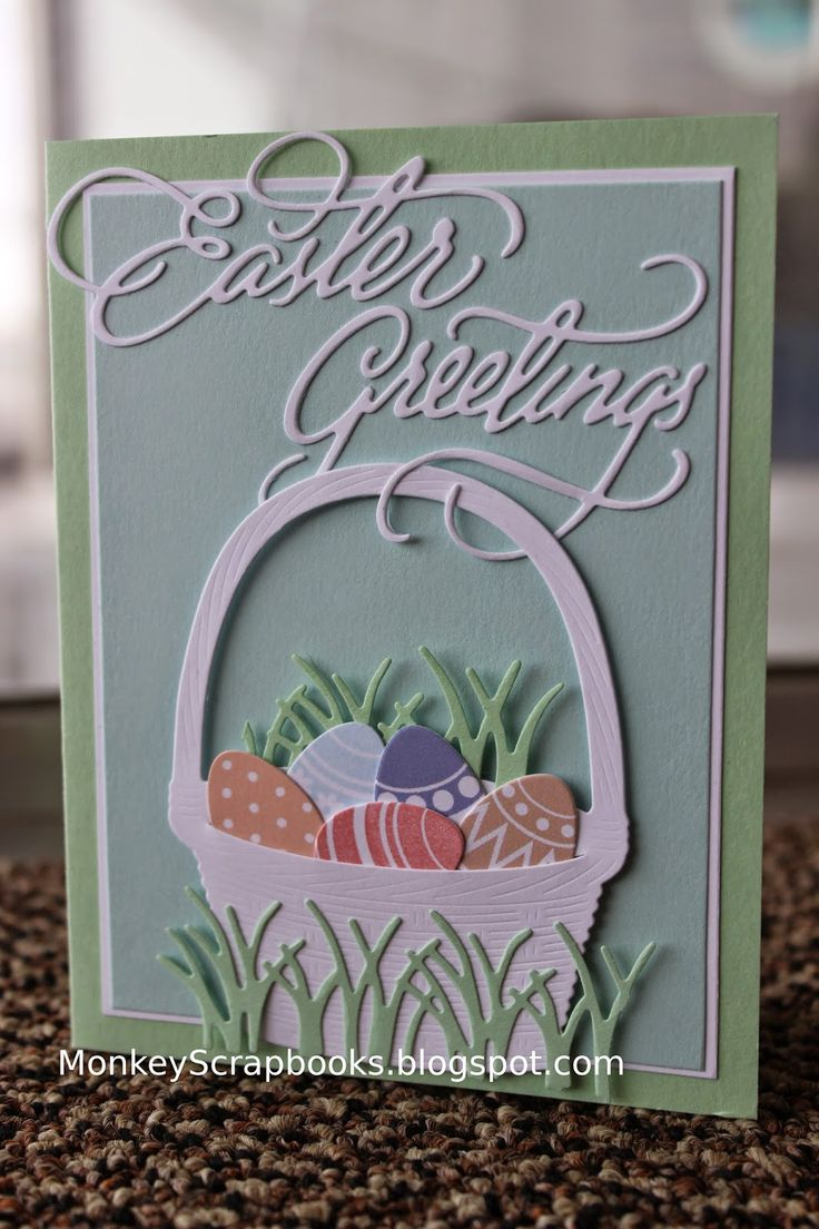 I have been stocking up on all kinds of new Easter stamps and dies. Here are a few sample cards of some new Impression Obsession dies. ...