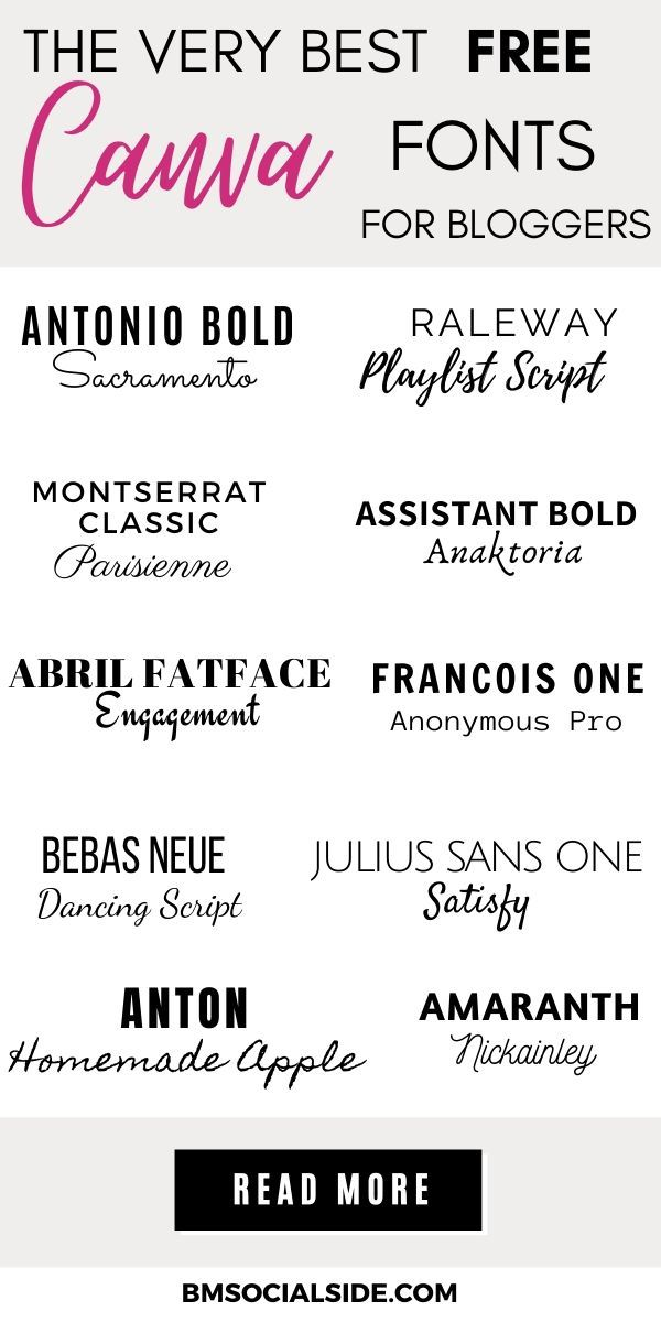 15 Free Canva Fonts For Bloggers In 2020 Bmsocialside Font Pairing Canva Tutorial Lettering