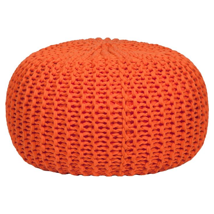 Gold Medal Hand Knitted Pouf Bean Bag Target