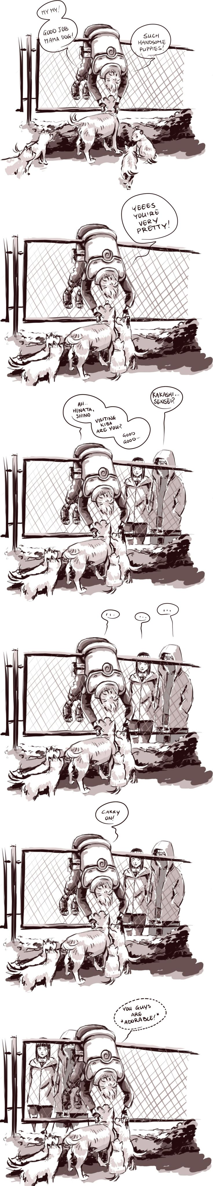Kakashi and dogs