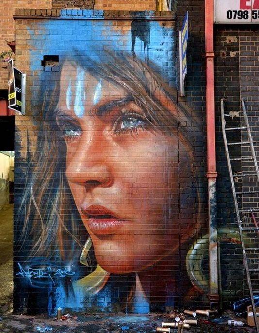 #StreetArt /London by Adnate