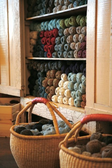 Jamieson's display at Tolt Yarn and Wool in Carnation, WA.