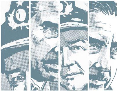 """""""Pinochet se impacienta. Ha oído que Allende se ha suicidado. Desde el Ministerio de Defensa, el almirante Carvajal -coordinador de la operación- lo desmiente y le informa de la salida de los militares de La Moneda"""". Revisa esta y otras escenas en nuestro especial interactivo """"11 septiembre 1973"""""""