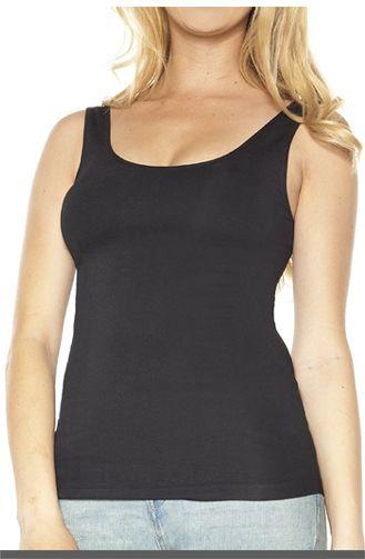 Plus Size Camisole With Built In Bra Ahh By Rhonda Shear Women's Plus Size Seamless Tank W/ Shelf Bra $29.90
