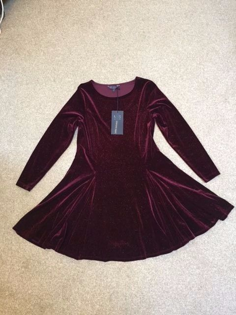 M&S Collection Ladies velvet Dress with stretch UK12P or UK18P BNWT